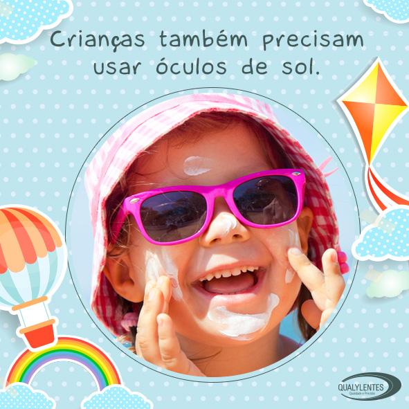 Crianças Também Precisam Usar Óculos de Sol