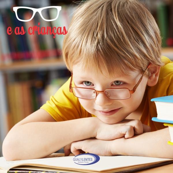 Óculos e as Crianças